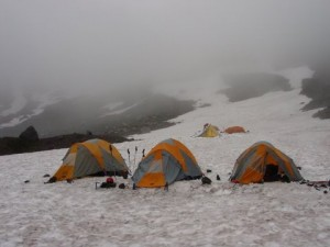 Camping on the Inter Glacier - Night one