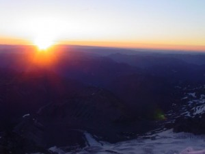 Sunrise from 12,000 ft.