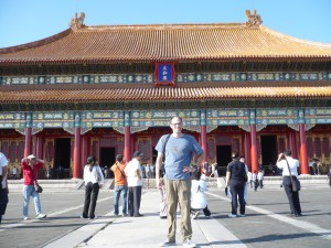 Ian in the Forbidden City.