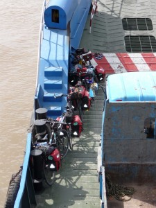 Last day on the bikes...we had to take 3 ferries to cross the Yangtze.